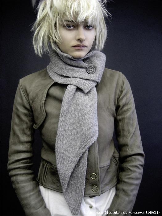 Раздел фото: Модный шарф.