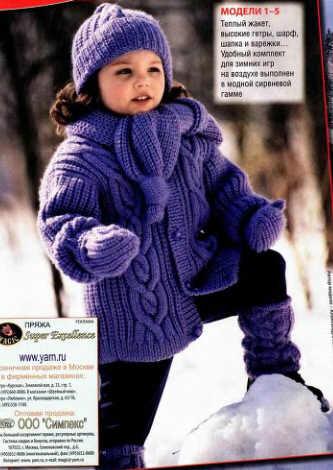 Вязание зимней шапки для девочки. вязаные шапки спицами схемы, вязание...