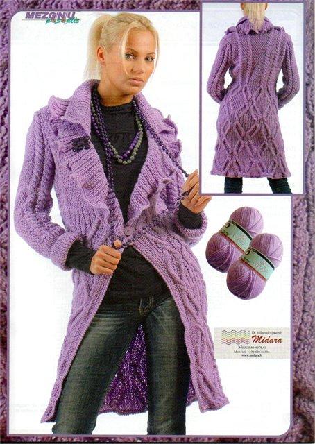 Вязание спицами, пальто из Mezginiu pasaulis 2009_ziema
