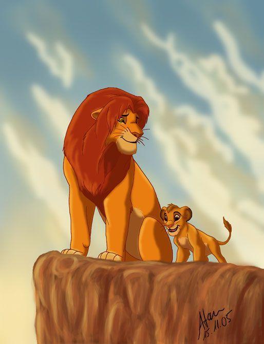 картинка короля льва на скале для декора садовых