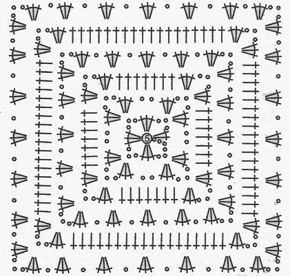 Для изделий, вязаных крючком схемы квадратов очень актуальны.  Главная.