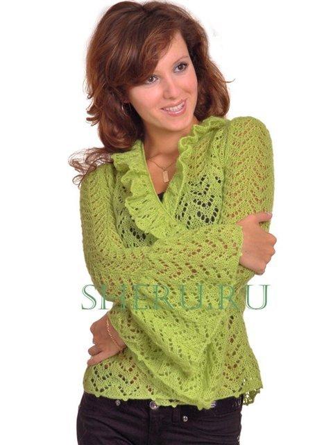 Размер блуза: 44.  Для вязания блузы необходимо 400 г... Автор модели...