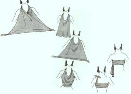 Описание: завязать платок поверх купальника.