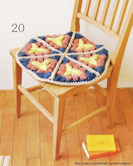 Вязаные крючком подушки для стульев. Обсуждение на ...