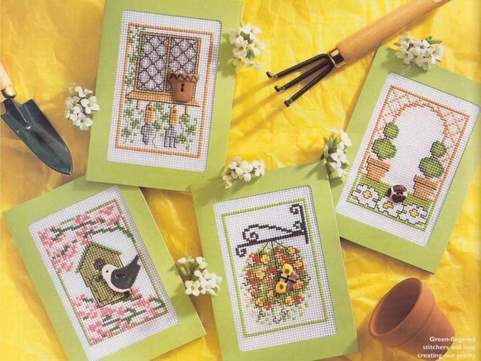 Оформление вышивки открытка