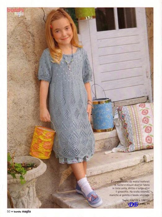 вяжем для девочек платья, сарафаны спицами. вязание для детей спицами.