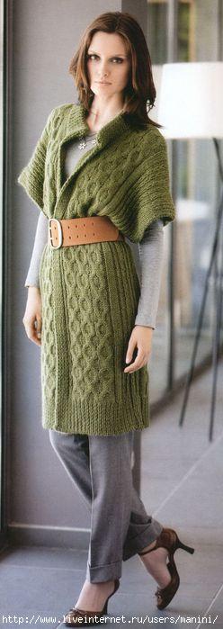 модели вязаных спицами кардиганов. вязание женских кардиганов спицами.