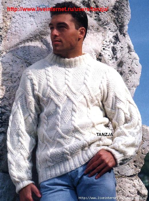 Золотая коллекция вязания спицами.  Мужская мода.