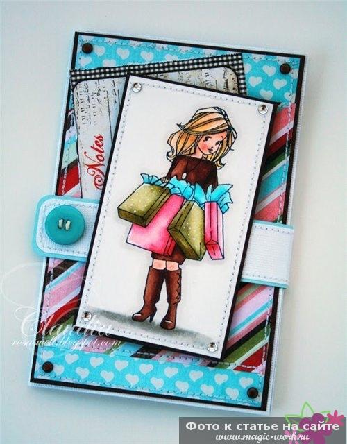 Скрапбукинг открытка для подружки