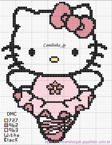 Hello Kitty - схемы вышивки крестиком.