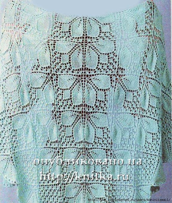 легкие ажурные схемы вязания спицами