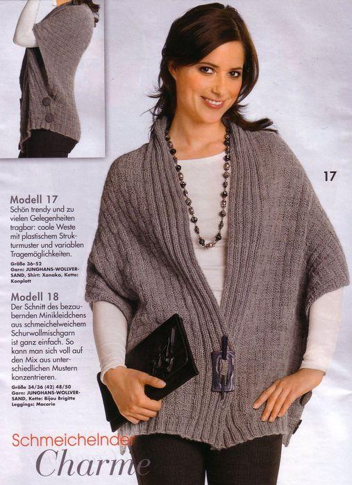 схемы вязание спицами для полных женщин