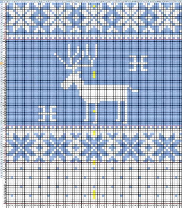 Норвежский свитерок с оленями от D&G. Часть 100.  Оболденная кофточка.