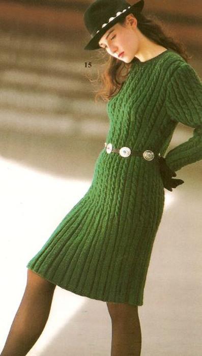 Описание: вязаные платья спицами схемы для. теплые вязаные платья спицами.