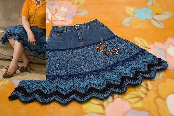 юбка из старых джинс. юбка из старых джинс, в том числе женские штаны с...