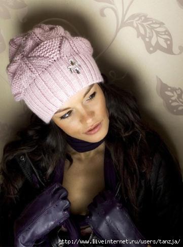 шапки зима 2011 2012. прикольные зимние вязаные спицами шапки схемы.