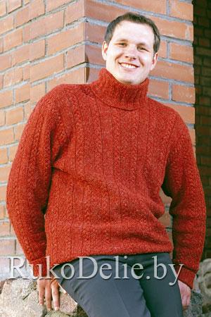 Схема мужского свитера вязание на спицах.  Загружено 192 раз.