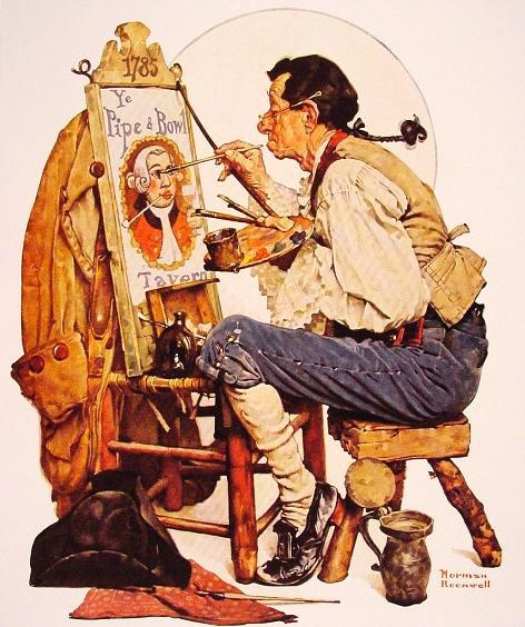 Купить репродукцию категории Художник, Rockwell Norman.