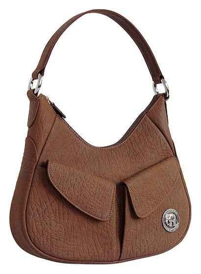 Женская кожаная сумка с тиснением под кожу слона 2-017.