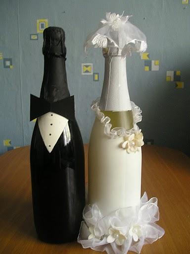 Свадебные бутылки от Шоколадницы. свой цитатник или сообщество!