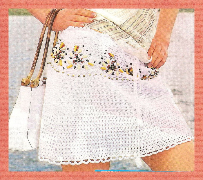 Описание: юбки вязанные крючком со схемами.  Вязание крючком: юбки...