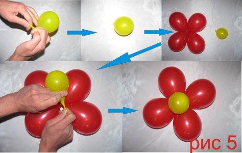 Букеты из длинных шариков схема
