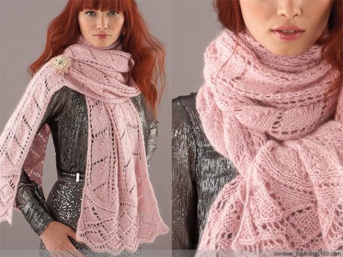 ...вязание шарфа спицами вязаный шарф схема узора в дырочку шарф с...