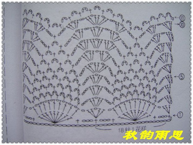 палантин крючком схема вязаного.