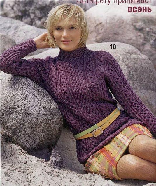 спицами Рукоделие: Вязание спицами. вязаный свитер для мальчика. женские...