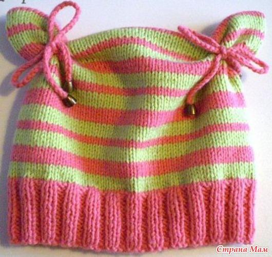 вязанные зимние шапки спицами схемы для девочки.