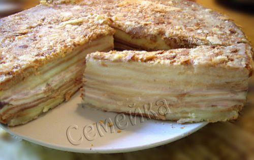 мокрый торт наполеон рецепт с фото