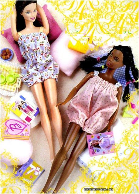 Фотоальбомы участников на 7я.ру Выкройки одежды для куклы Барби.