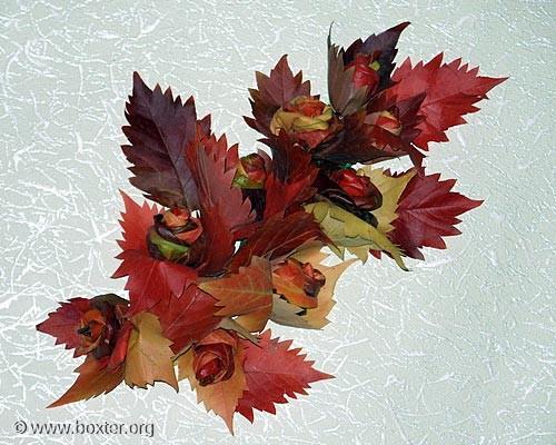 Осенние поделки, поделки из листьев.