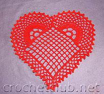 вязание крючком сердечки схемы, кружева связанные крючком.