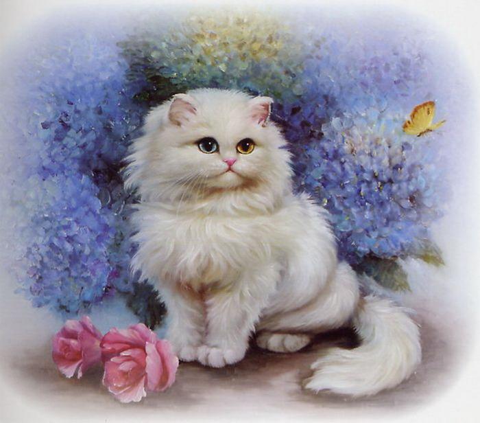 Коты открытках