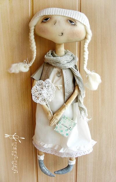 Так как я делала куклу Тыквоголовку с носиком, то на 2-х клиньях (детали...