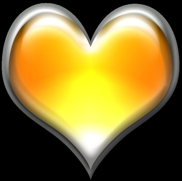 желтое сердце картинка многие спешат