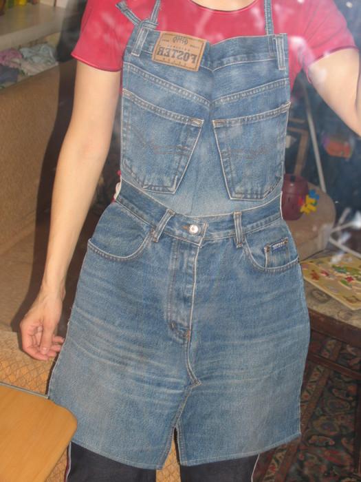 Фартук из старых джинсов своими руками выкройки