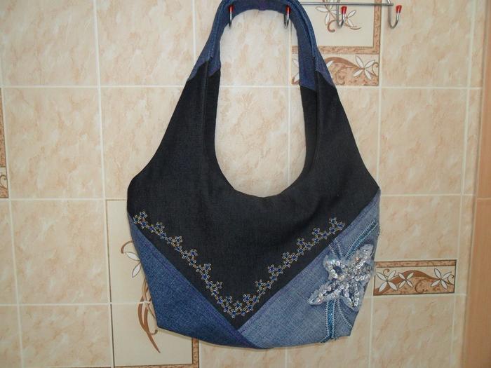 сумка для ноутбука из старых джинсов - Выкройки одежды для детей и...