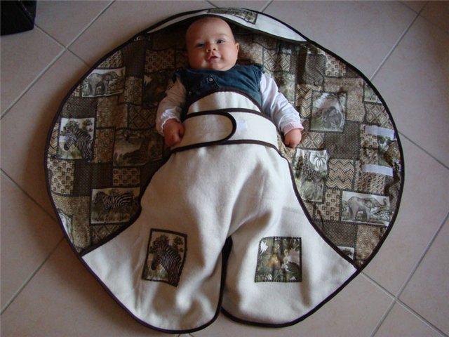 Выкройка конверта для новорожденного своими руками - Выкройка