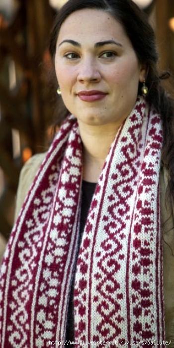Описание: вязание шарфа спицами для начинающих.