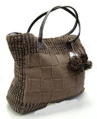 сумочки спицами, сумка мешок и розовая сумка.