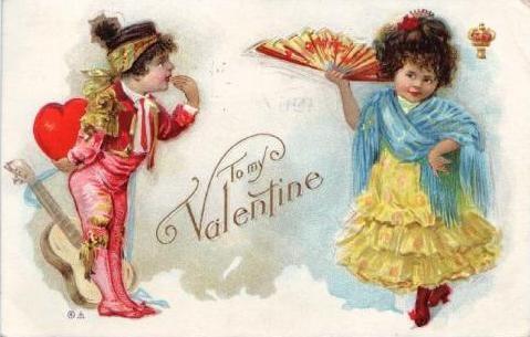 Винтажные открытки ко дню св. Валентина (дети)/ Vintage Valentine Cards...