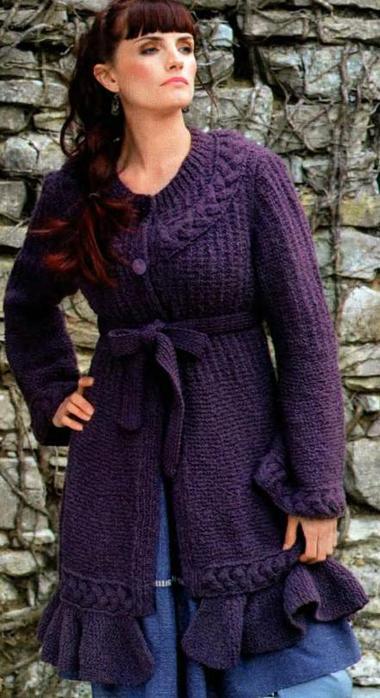 домашнее рукоделие вязание пальто для женщин