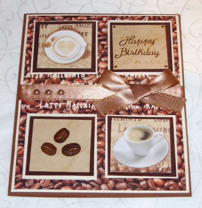 Как сделать кофейную открытку