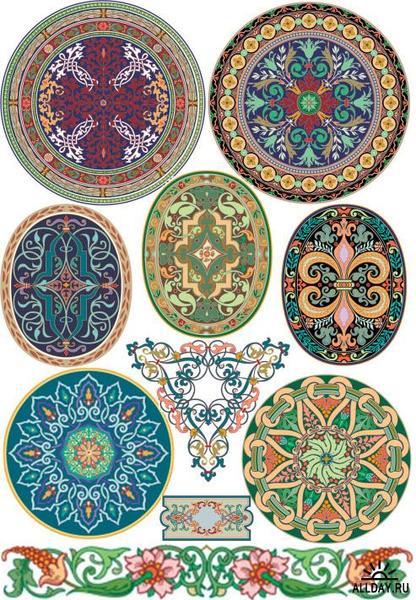 ... : Орнаменты в векторе Ornaments in vector.