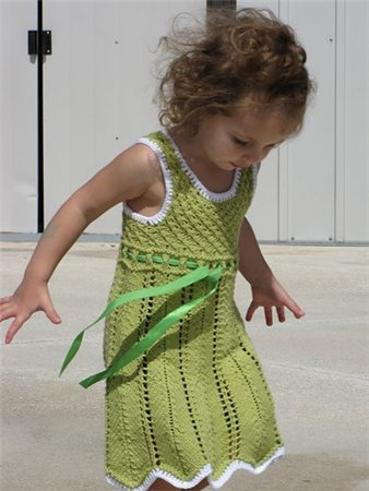 вязаные спицами платья сарафаны для девочек - Выкройки одежды для детей...