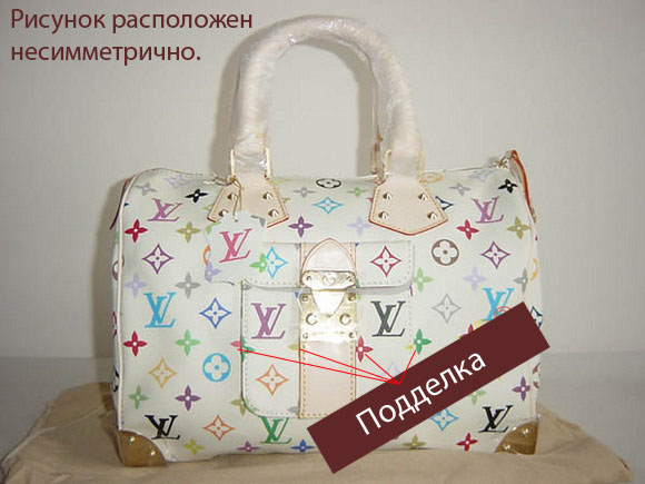 Подделка сумки Louis Vuitton.