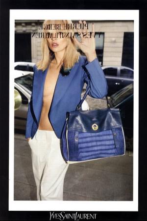 ...с названием сумки Yves Saint Laurent Muse Two, которую она держит.
