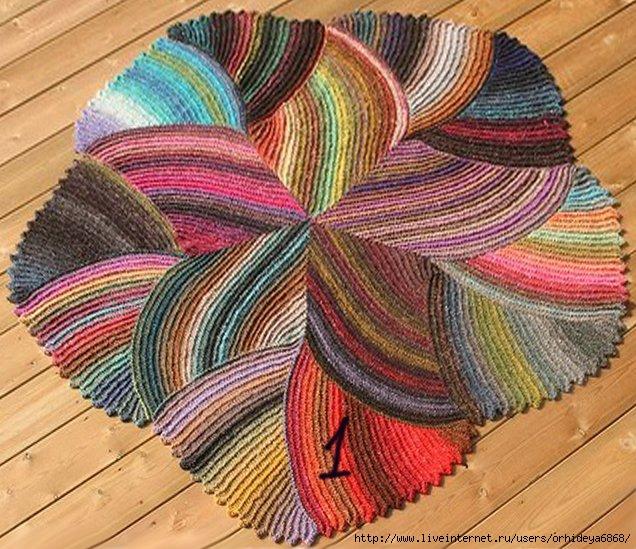 Вязание.  Рубрика.  Просмотров: 900.  Коврики.  Вязание для дома.
